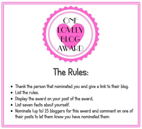 one-lovely-blog-award-rules